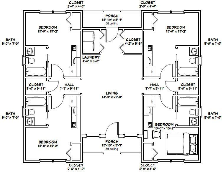 42x36 House -- #42X36H3 -- 1,370 sq ft - Excellent Floor ...