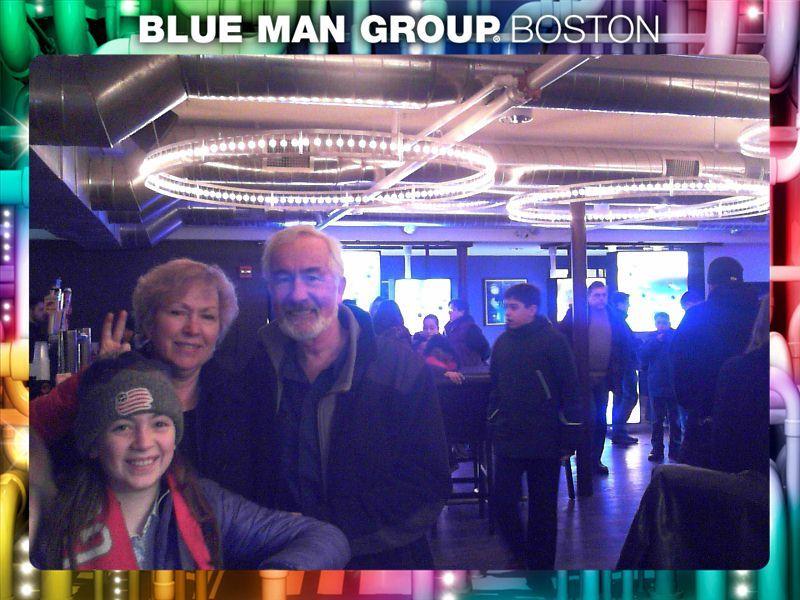 Blue Man group, February 28, 2015