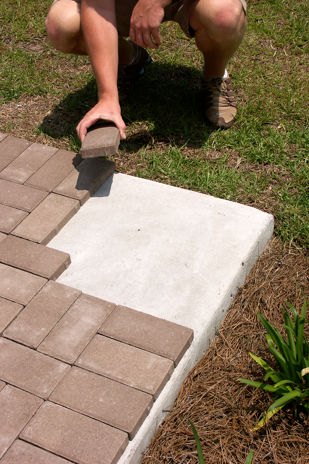 How To Put Pavers Over Concrete With