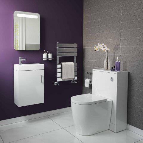 portland gloss white slimline wall hung basin unit. Black Bedroom Furniture Sets. Home Design Ideas