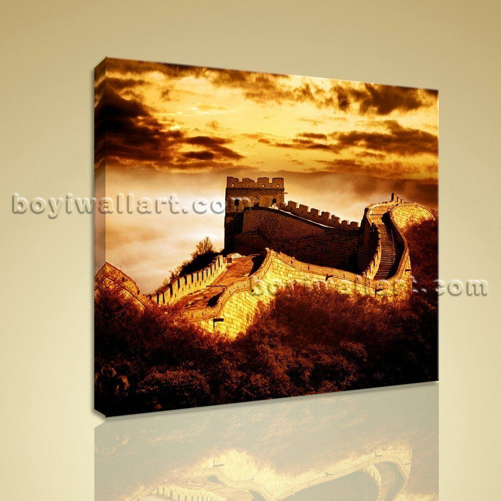 Hd print landmarks picture of the great wall china canvas wall art