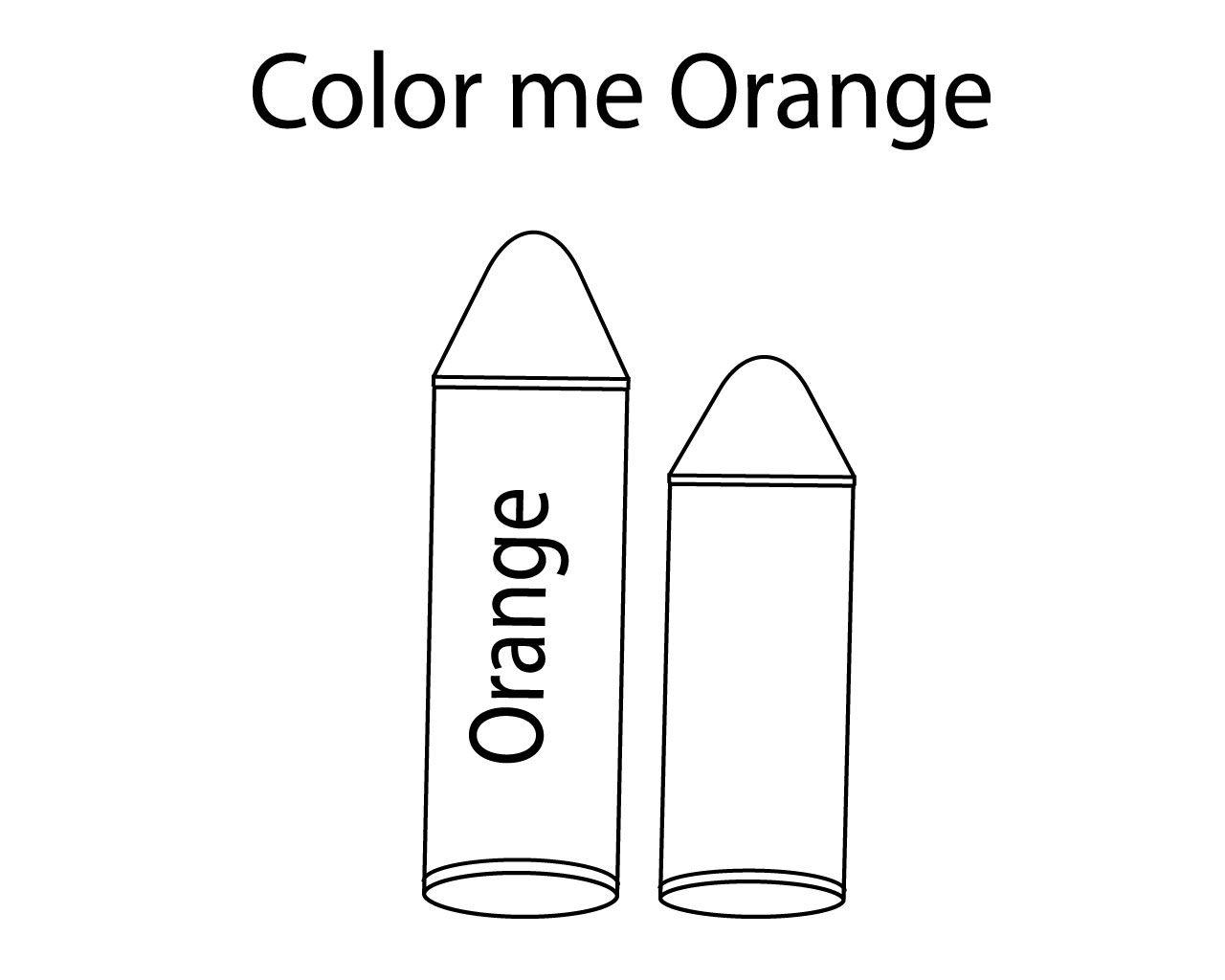 Orange Crayon Coloring Pages