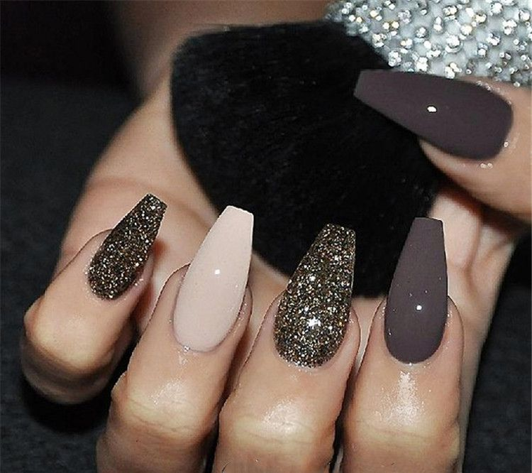 20 Black And White Acrylic Coffin Nails Ideas Classy Nail Designs Gorgeous Nails Fall Nail Art Designs