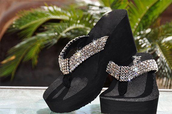 platform sparkly sandals