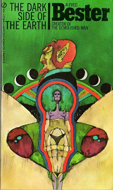 Vintage sci-fi Bester cover - art by Bob Pepper