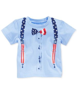 First Impressions Baby Boys' Patriotic Tee (636189596012) Whether in a mustache or bow tie, he can take a style cue from Uncle Sam with either of these Americana tees from First Impressions.