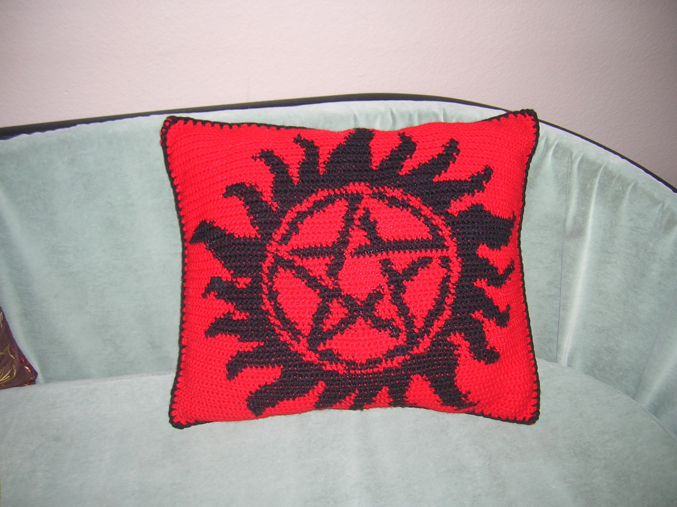 Supernatural Crochet Pillow From A Pattern From Httphells Half Acre