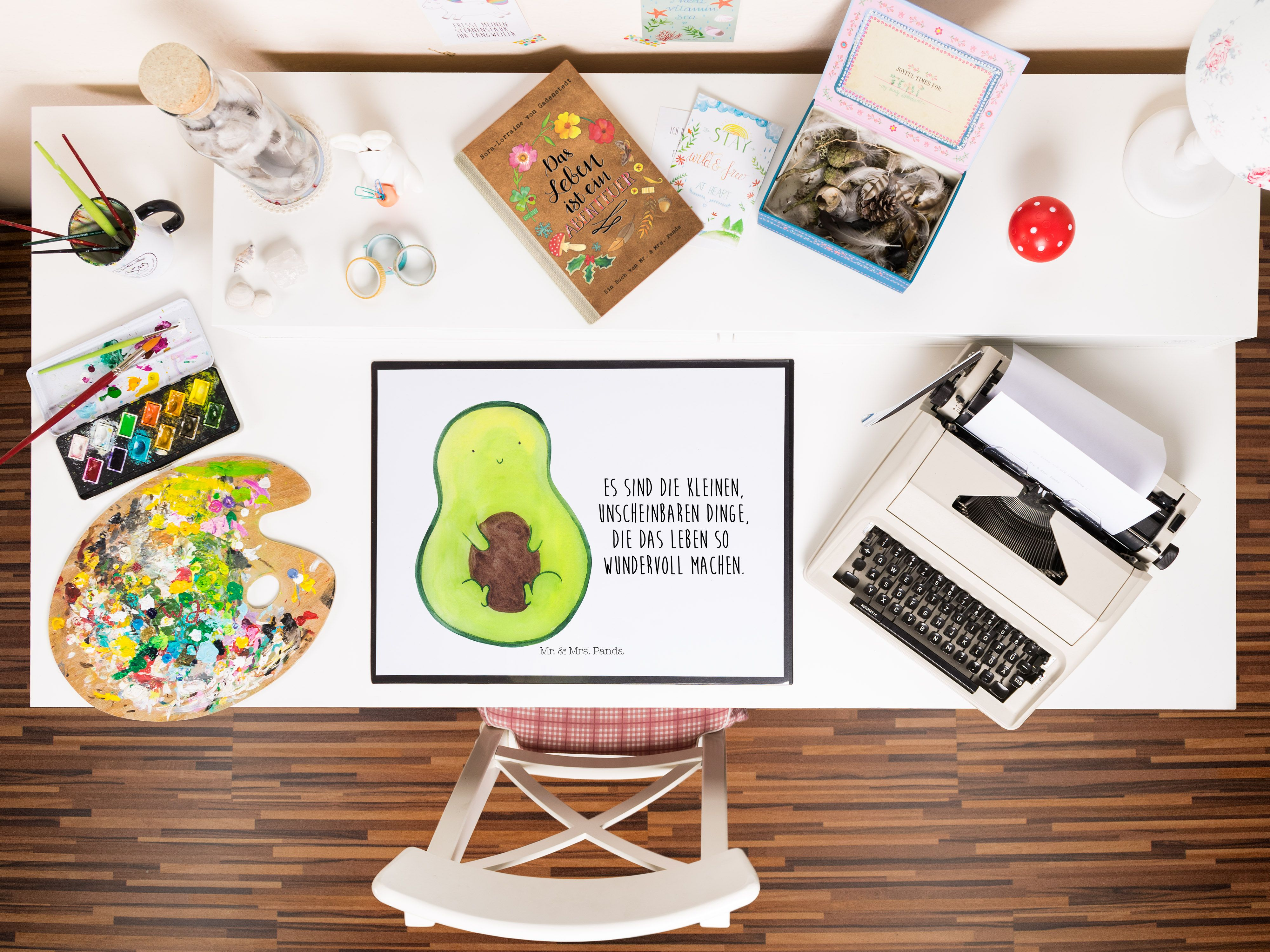 Schreibtischunterlage Avocado mit Kern