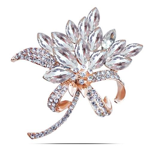 Lux Broszka Zloty Bukiet Biale Krysztaly Pudelko 8320990650 Oficjalne Archiwum Allegro Brooch Fashion Jewelry Jewelry