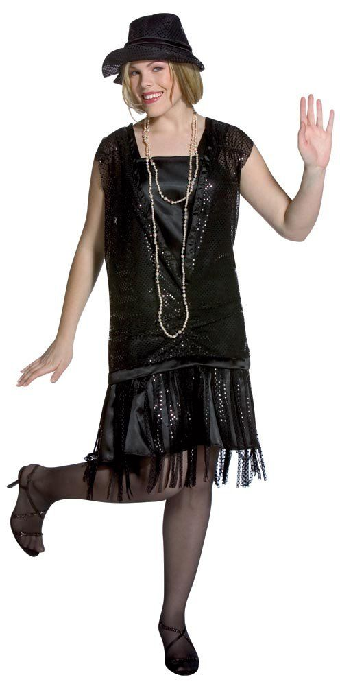 1920s Gatsby Girl Plus Size Flapper Dress Costume Use Coupon