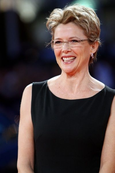 Annette Bening works the frameless lens look a different way