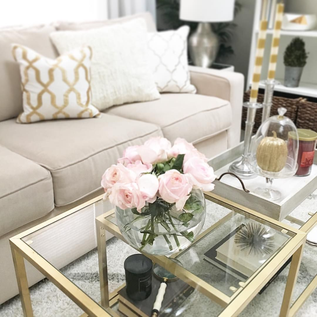 510 Likes 40 Comments J A C L Y N Jaclynmari On Instagram Thecolorfulhome Series Is W Gold Living Room Cream Couch Living Room Cream Sofa Living Room [ 1080 x 1080 Pixel ]