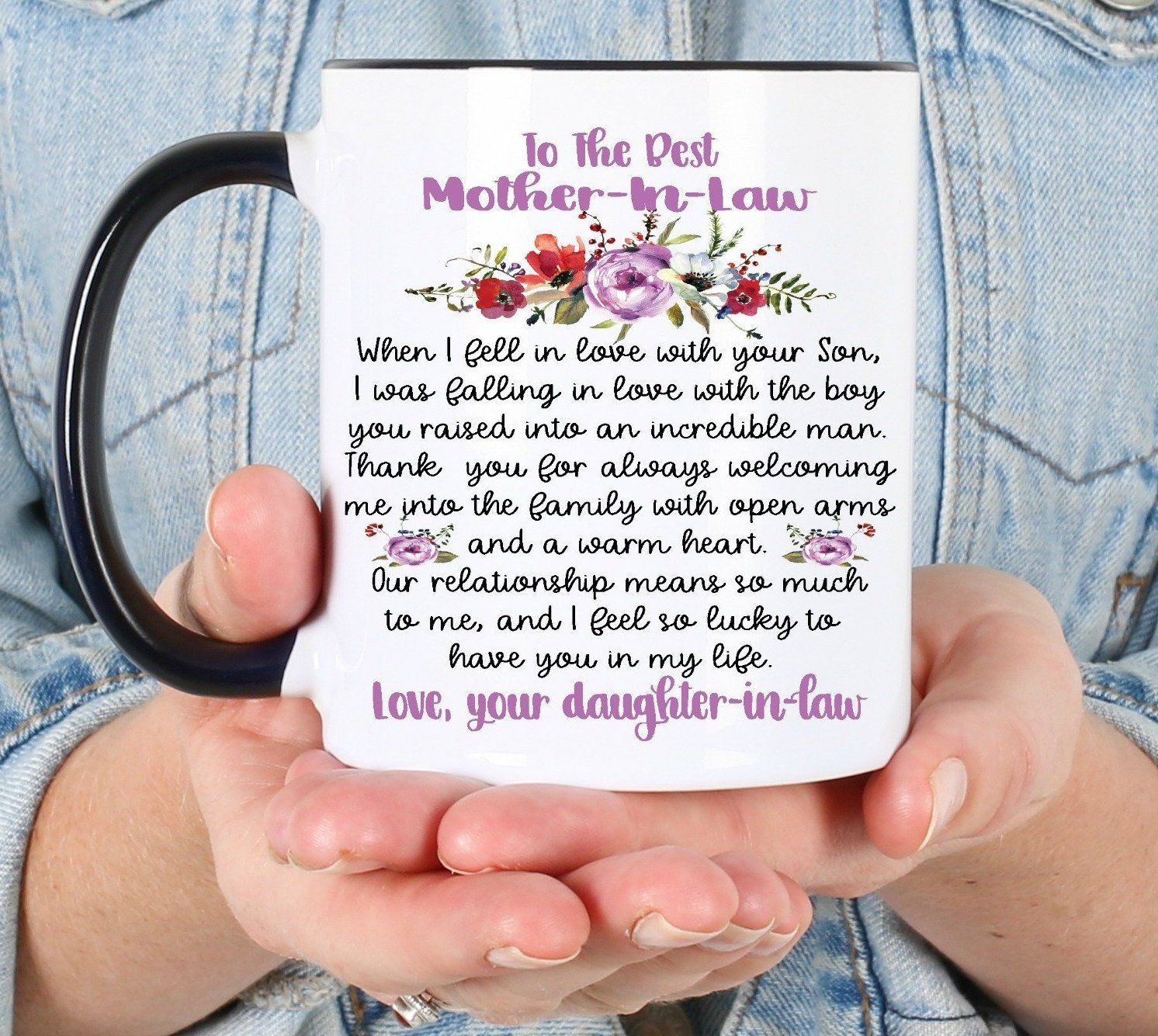 Best Mother In Law Mug Mother S Day Gift For Mil Etsy Mother Birthday Gifts Gifts In A Mug Best Mother