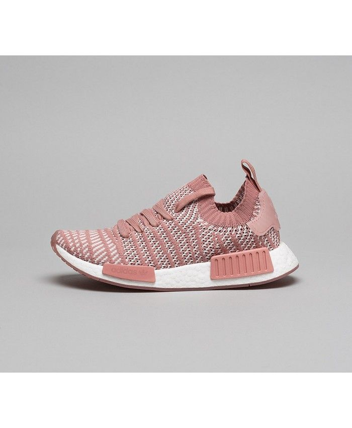 more photos ec8d8 a82fa Adidas NMD R1 STLT Primeknit Trainers In Ash Pink Orchid Tint