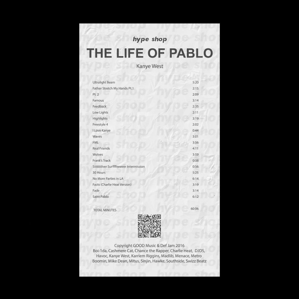Tlop Ablum Receipt Kanye West Manifest Hype In 2020 Real Friends Kanye Kanye West