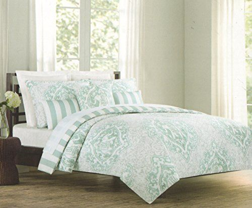 Tahari Home 3pc Full Queen Duvet Cover Set Large Vintage Medallion