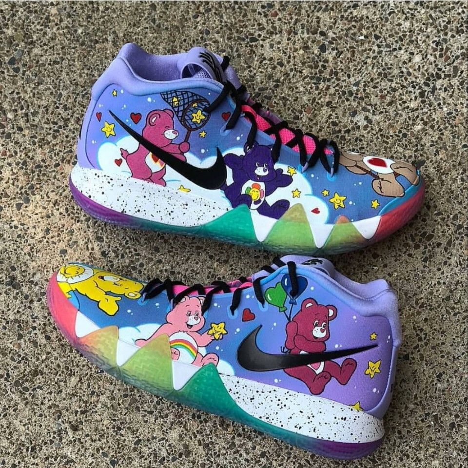 new arrival 2dd46 c8331 Kyrie 4: Care Bears | Shoes in 2019 | Shoes, Sneakers nike ...