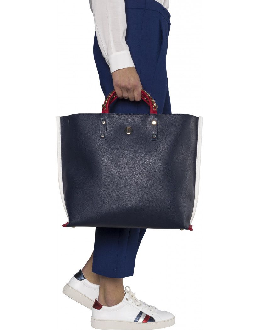 a93f31301f TOMMY HILFIGER WOMEN'S CHAIN TOTE BAG - TOMMY NAVY | Country Attire ...