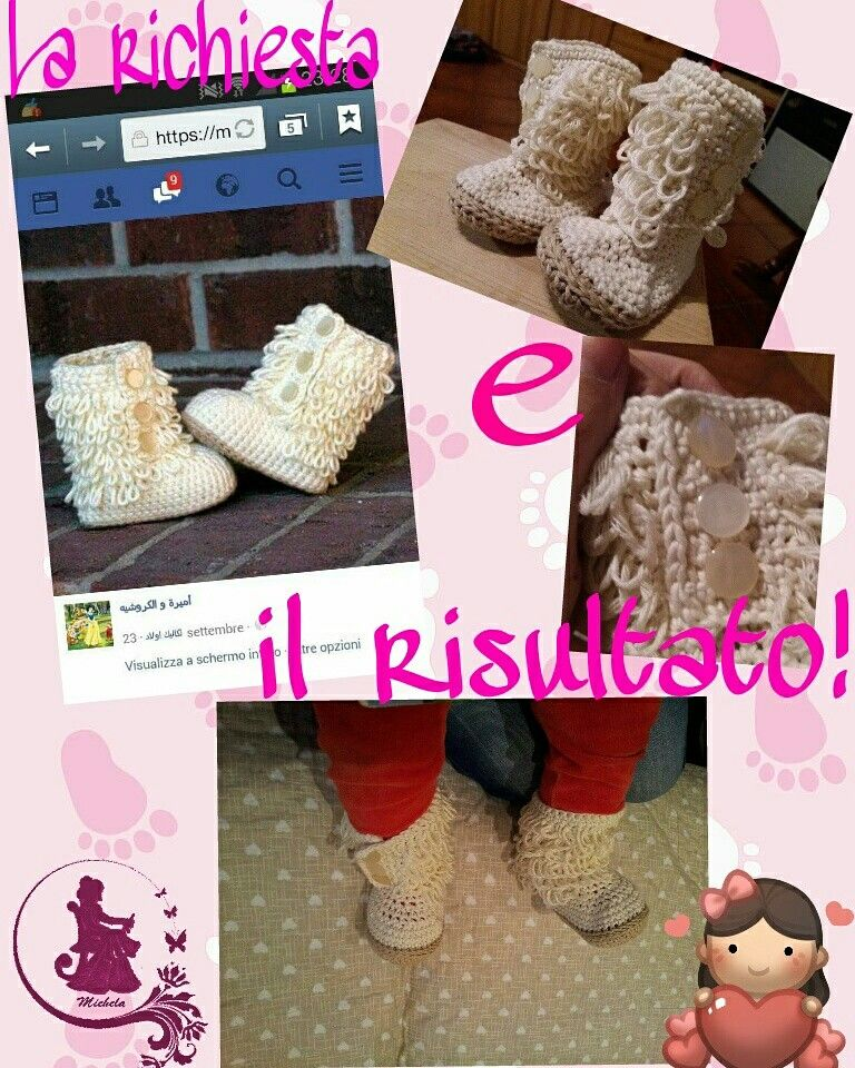 Boots baby crochet