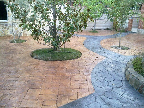 Hormigon impreso casti paviments pinterest pisos for Hormigon impreso jardin