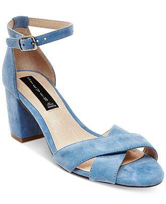 bdaea051bef STEVEN by Steve Madden Voomme Ankle-Strap Block Heel Dress Sandals - All  Women s Shoes - Shoes - Macy s