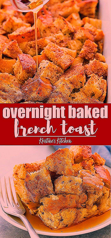 Über Nacht gebackener French ToastAuflauf