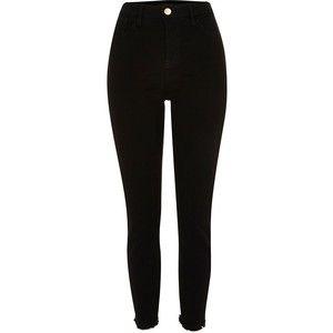 Black high waisted Lori skinny jeans