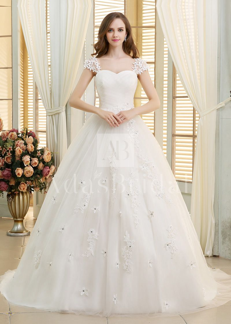 Buy discount glamorous tulle sweetheart neckline ball gown