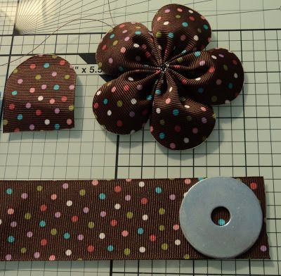 Ribbon Flowers by MakeBowsandMore.com: Rounded End Five Petal Flower