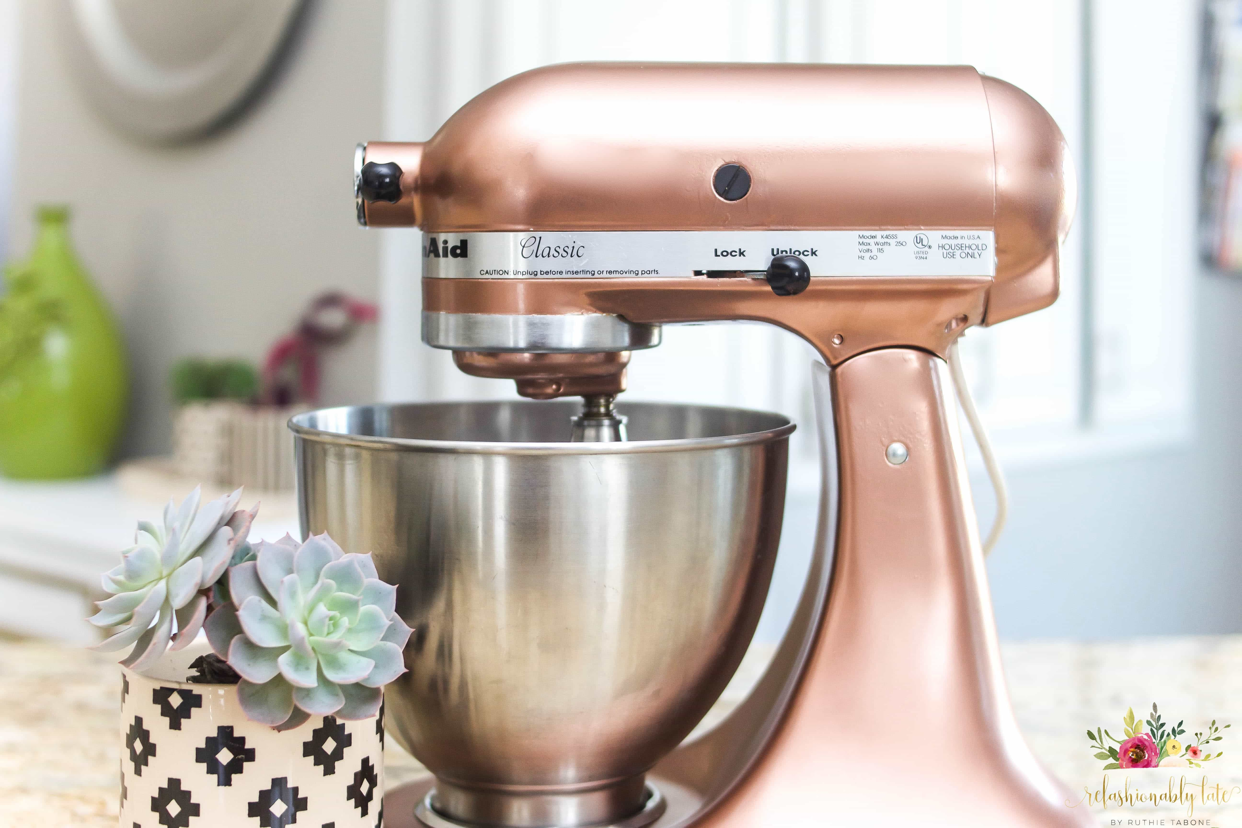 How to paint a kitchenaid mixer in 2020 kitchen aid