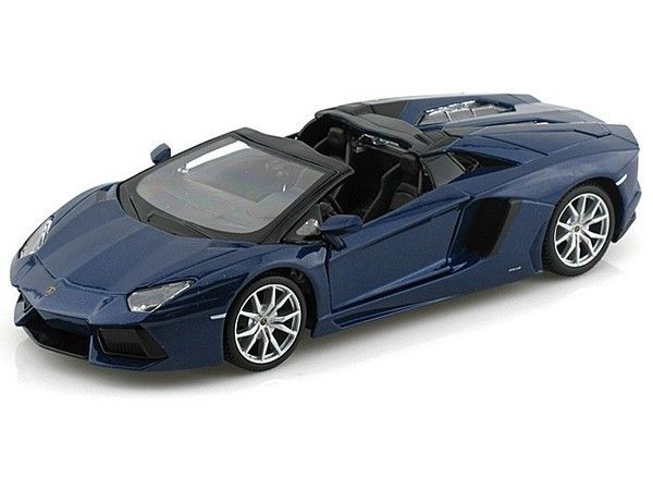 Maisto 1/24 Scale Lamborghini Aventador LP-700-4 Roadster Blue Diecast Car Model 31504 - Diecast Auto World