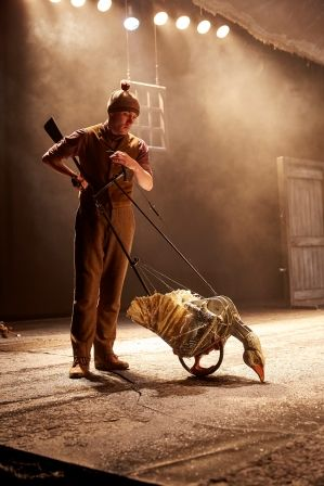 Drew Dillon as Goose War Horse at the New London Theatre  Photo by Brinkhoff M+Âgenburg #WarHorse #Play #Theatre