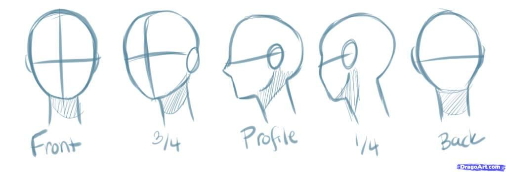 How To Draw Manga Heads Step By Step Anime Heads Anime Draw Japanese Anime Draw Manga Free Online Drawin Anime Head Manga Drawing Manga Drawing Tutorials