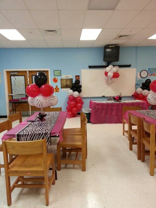 Pink and zebra baby shower done by me!