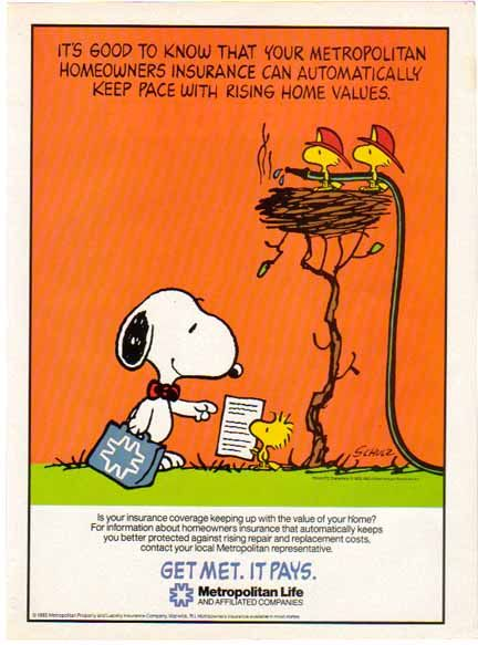 Metlife Life Insurance Quote Snoopy & Woodstock~Metlife Insurance And Financial Service