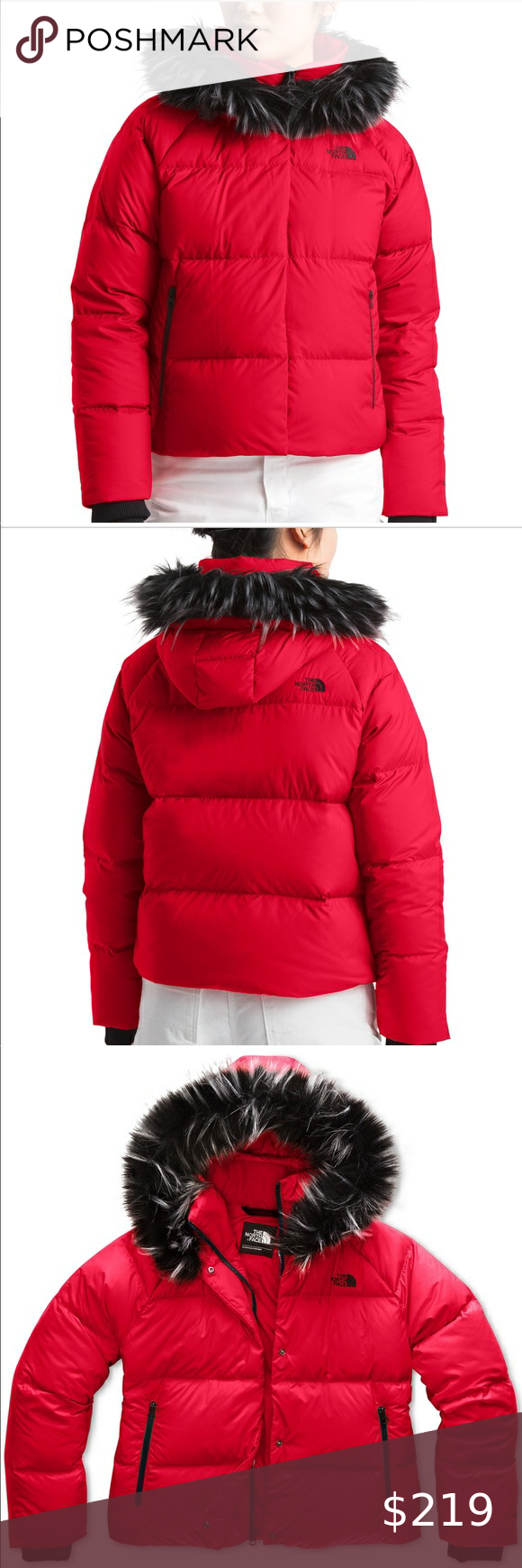 North Face Down Filled Red Hooded Jacket New Xl Red Hooded Jacket Trim Jacket The North Face [ 1740 x 580 Pixel ]