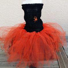 Robe tutu crochet et tulle pour halloween
