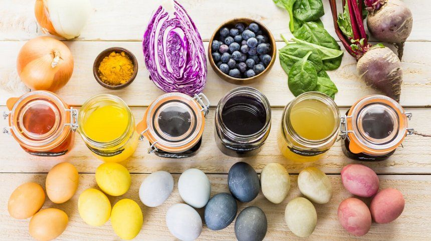 5 натуральных красителей для пасхальных яиц | Украшение ...