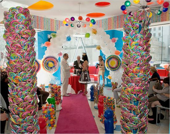 Candy Themed Wedding At Dylans Bar In NY