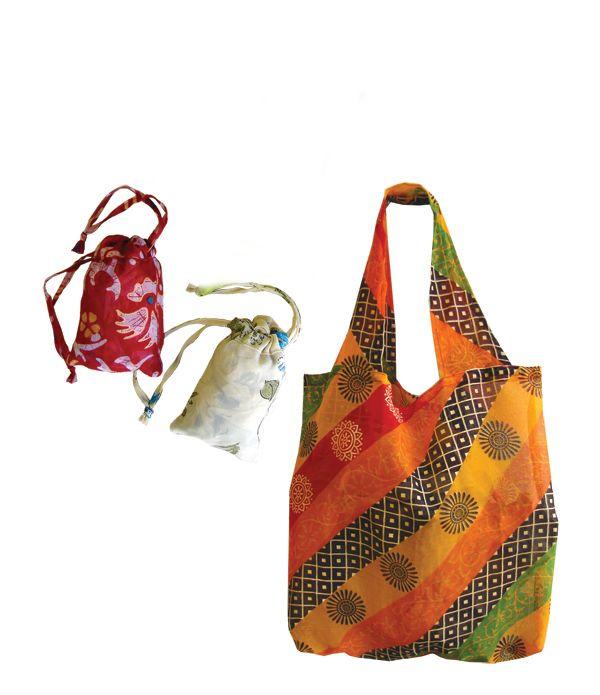 Recycled Sari Grocery Bag. #fairtrade India