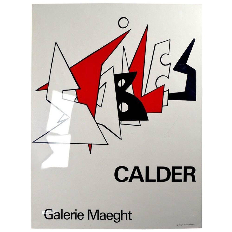 """Galerie Maeght Calder Poster """"Stabiles"""" Galerie maeght"""