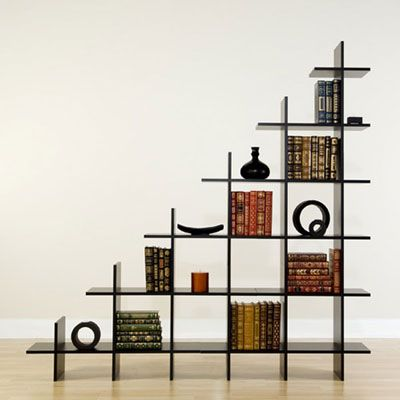 Captivating Creative Trilogy Staircase Bookshelf