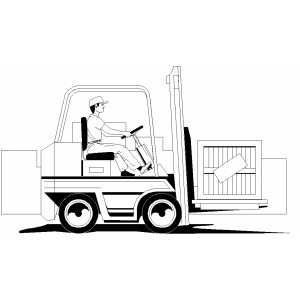 Forklift Coloring Pages Forklift Coloring Pages For Kids