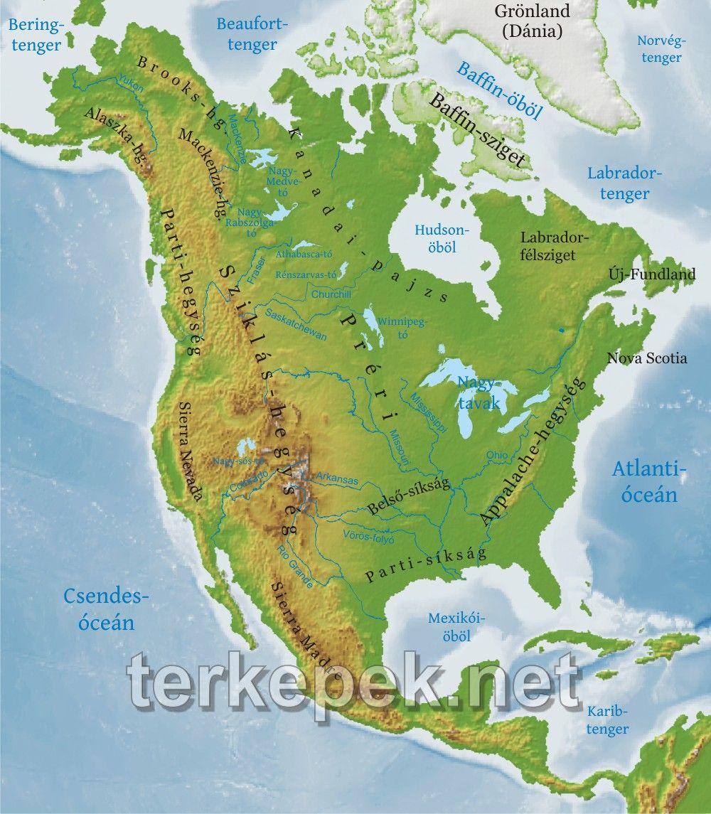 észak amerika térkép Észak Amerika térkép | Észak Amerika | Pinterest észak amerika térkép