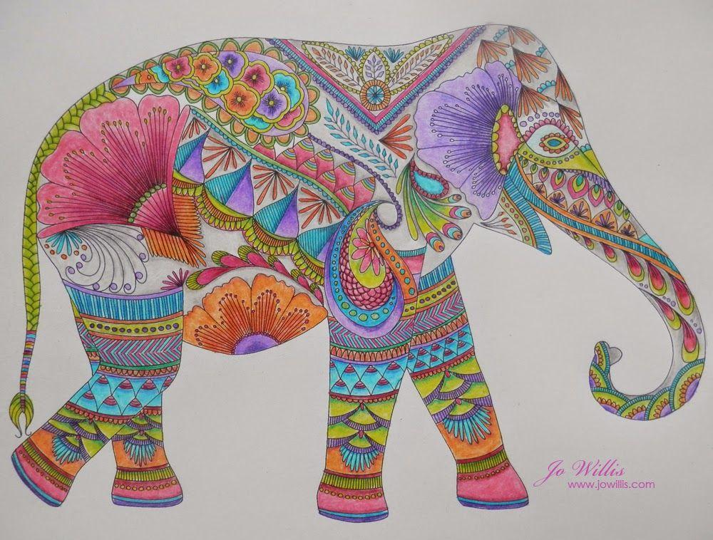 Here I Go Again Stabilo And A Millie Marotta Elephant