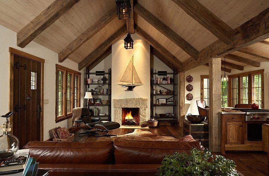 Rustic Great Room Design Ideas Part - 43: 30 Rustic Living Room Ideas For A Cozy, Organic Home