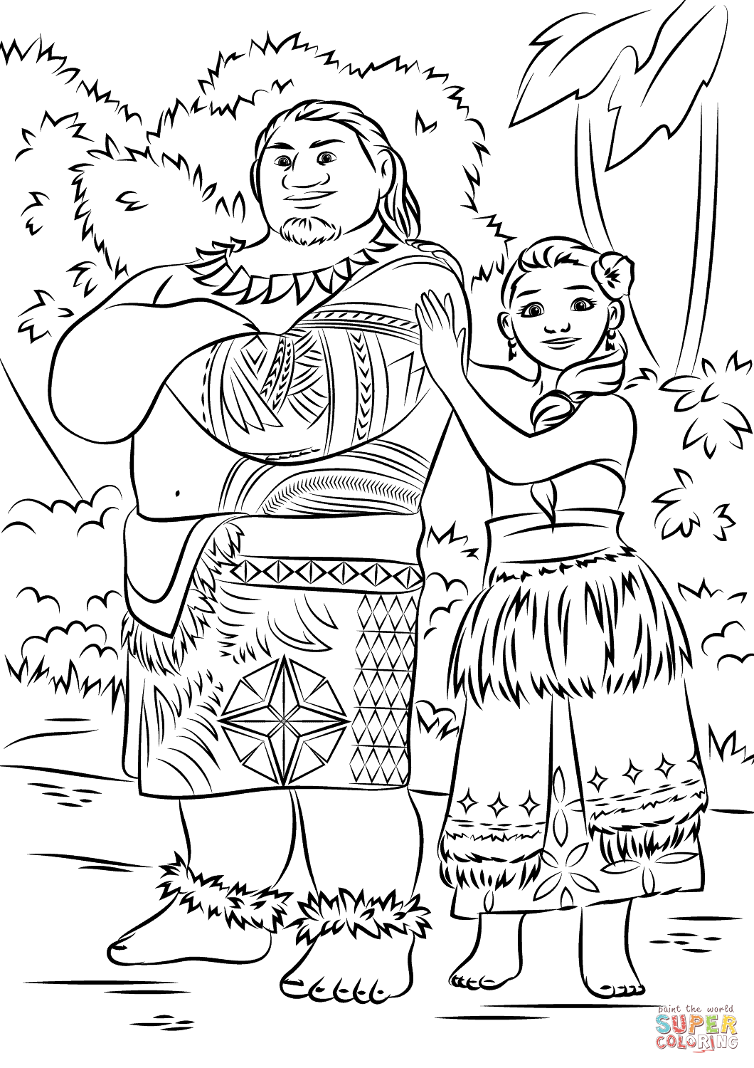 Tui and Sina from Moana Super Coloring Moana coloring