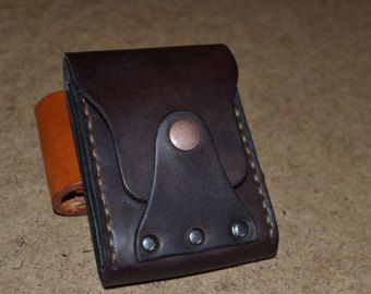 Cuero hombres billetera cartera de cuero tarjeta titular