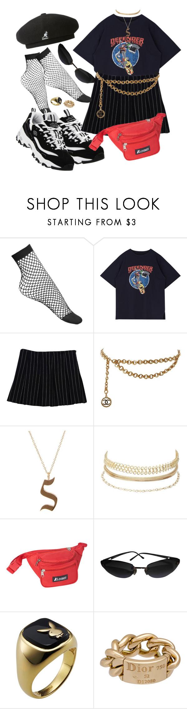 """""""Untitled #429"""" by youraveragestyle ❤ liked on Polyvore featuring Lamoda, Theory, Chanel, Luna Skye, Charlotte Russe, Everest, Christian Dior and kangol"""