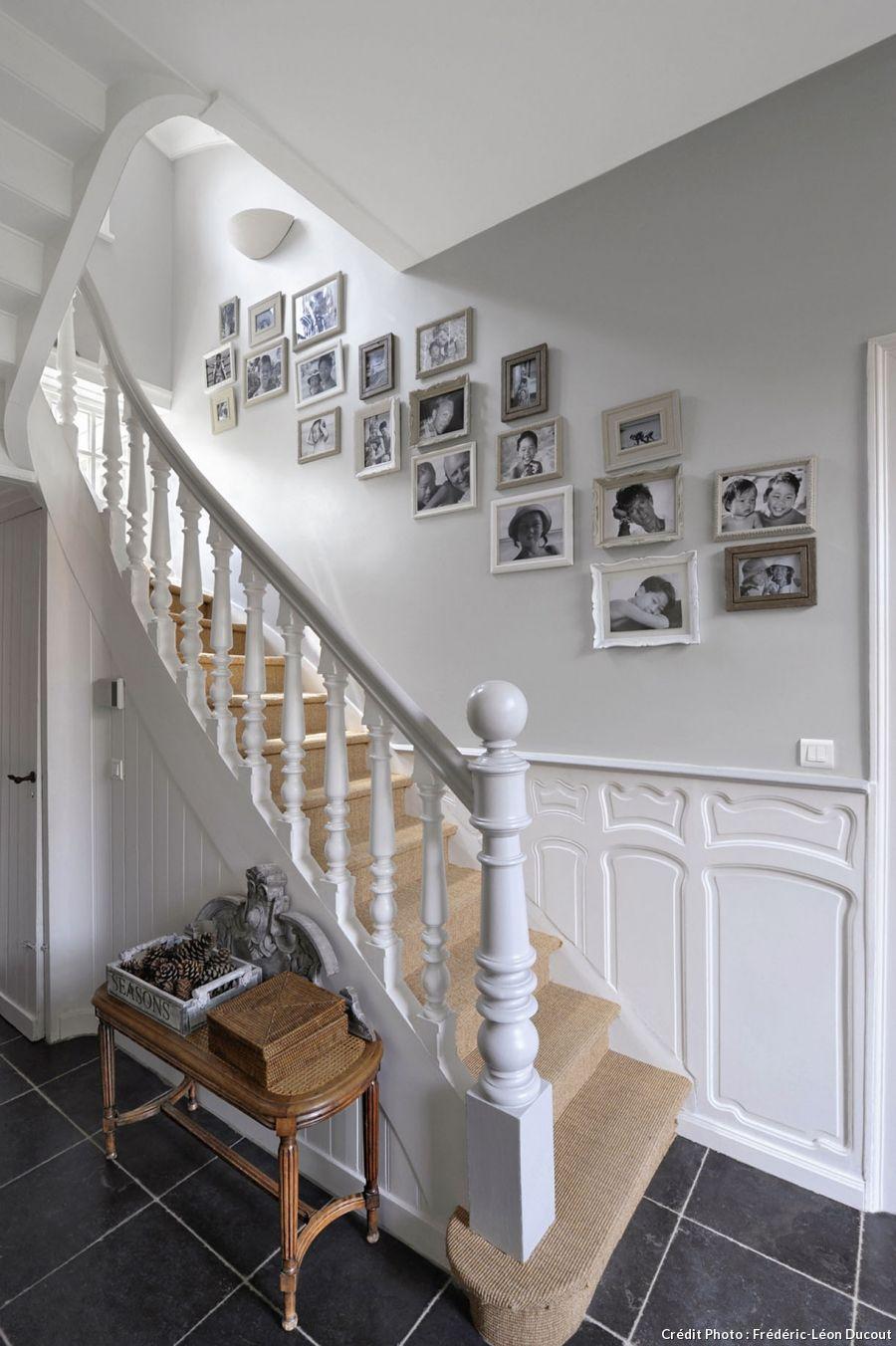 rampe d 39 escalier blanc avec photos decora o em escadas. Black Bedroom Furniture Sets. Home Design Ideas